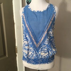 🐒PRICE DROP NWT Plenty by Tracy Reese smocked tee